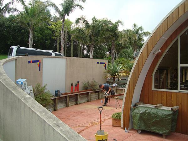 outdoor living area renovation